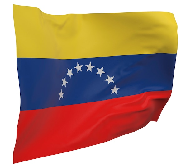 Venezuela flag isolated. waving banner. national flag of venezuela