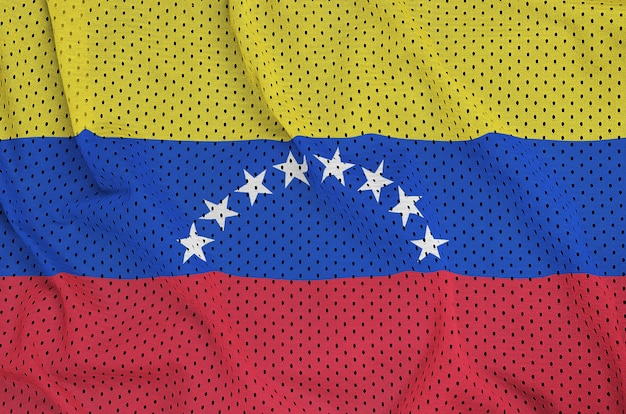Venezuela flag printed on a polyester nylon mesh
