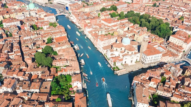 ヴェネツィア市大運河と住宅からの眺め、ヴェネツィア島の街並み、ヴェネツィアのラグーンの上から、イタリア
