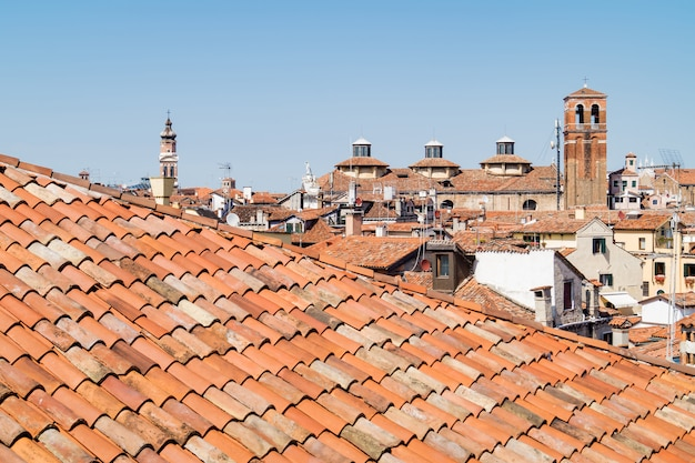 Venice roofs seen from above