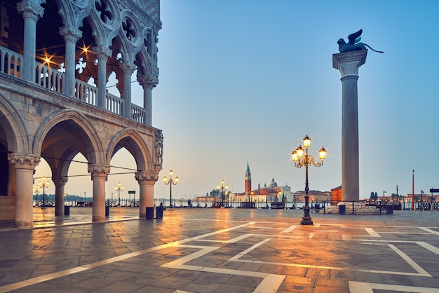 Venice, san marco square in the morning