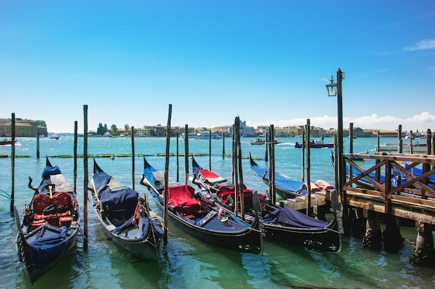 Venice with gondolas