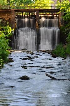 Ventas rumba waterfall on the venta river. kuldiga, latvia.