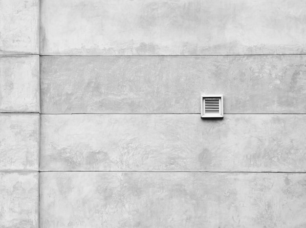 Ventilation system at cement wall