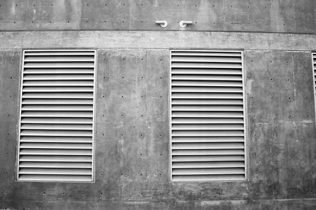 Vents on a concrete wall