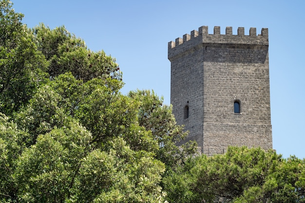 Venus castle in erice, province of trapani in sicily