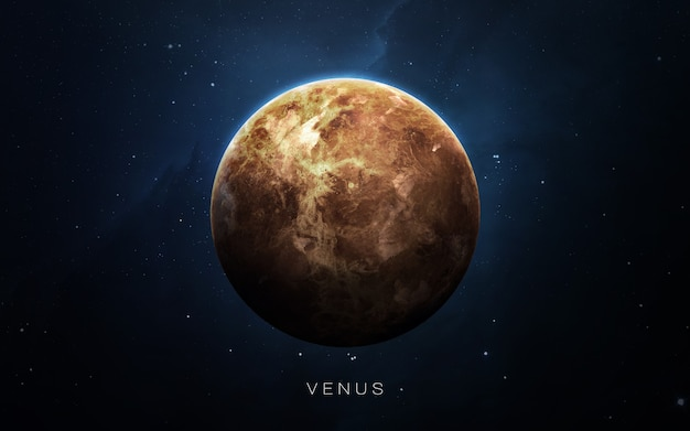 Venus in the space, 3d illustration. .
