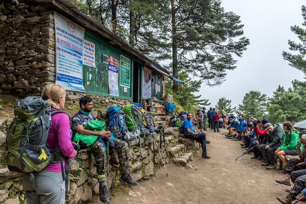 Verification of documents on a route of lukla-everest base camp.