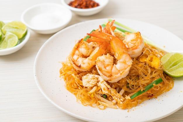 バーミセリパッドタイまたはタイ風海老入りバーミセリ炒め、タイ料理スタイル