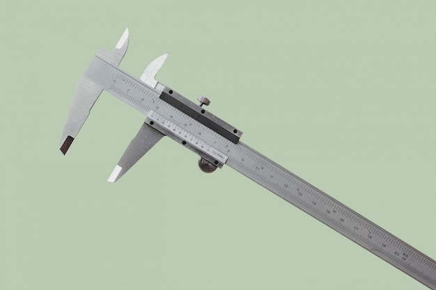 Vernier is a measure of the jobs and the industry is measured in centimeters and inches isolated on pastel color background.