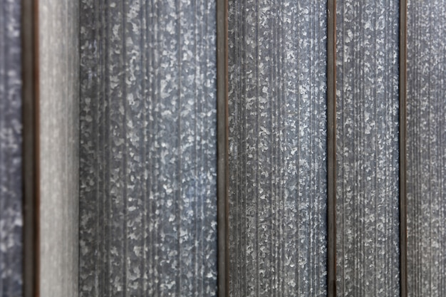 Vertical corrugated metal plates background
