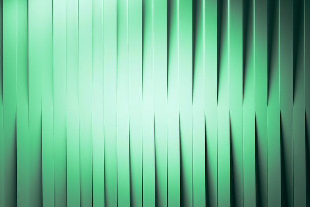 Vertical folded green paper lines background
