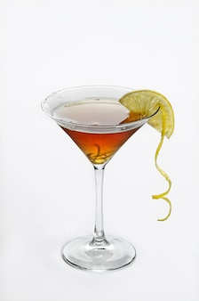 Vertical isolated shot of cosmopolitan cocktail - perfect for menu usage