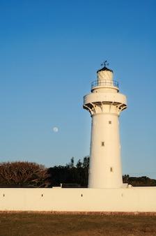 Vertical low angle shot of eluanbi lighthouse in kenting, taiwan