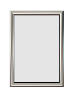 Vertical metal frame for your pictures isolated on white.