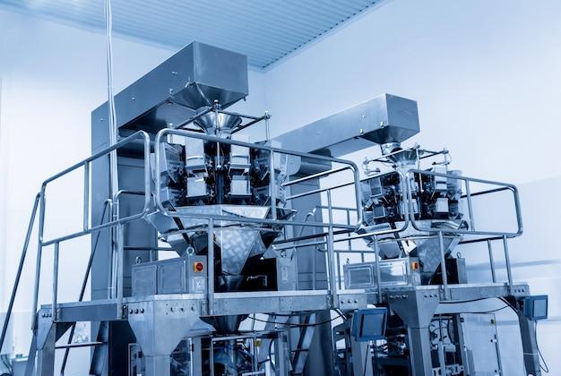 공장의 수직 멀티 헤드 계량기 포장 기계 스낵 및 칩