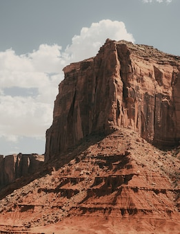 Vertical shot of the monument valley in oljato-monument, usa