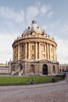 Vertical shot of radcliffe camera at oxford, england