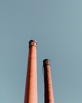 Vertical shot of shot towers