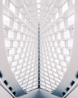 Vertical shot of white abstract architectural construction