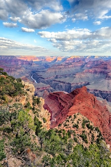 Vertical view of famous grand canyon, usa