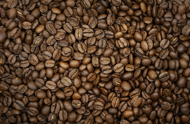 Very beautiful background of roasted coffee beans