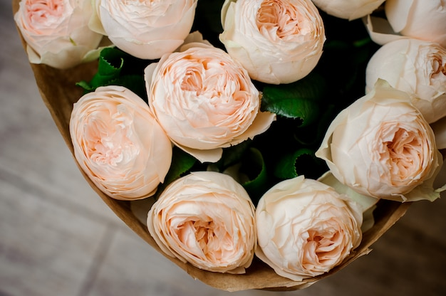 Very beautiful and elegant bouquet of tender flowers