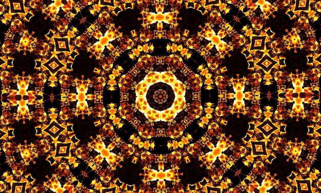 디자인을 위한 매우 아름다운 만화경 이미지, 만화경 오렌지 패턴