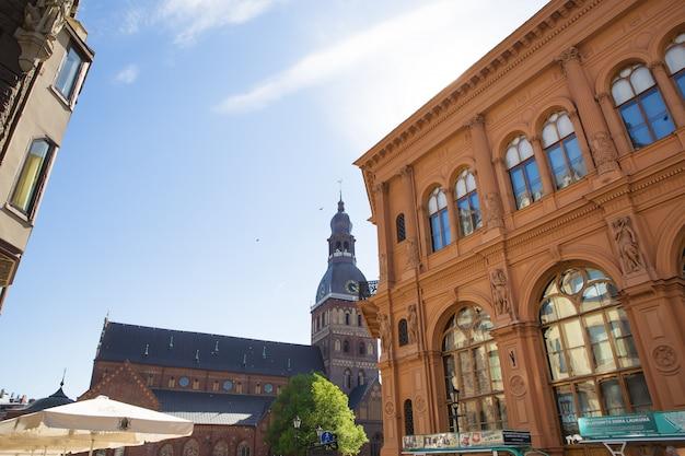 라트비아에서 리가 매우 아름 다운 오래 된 도시입니다.