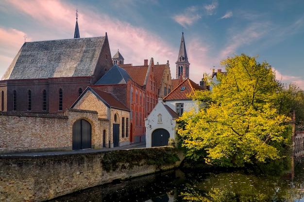 Very beautiful view of bruges city west flanders belgium