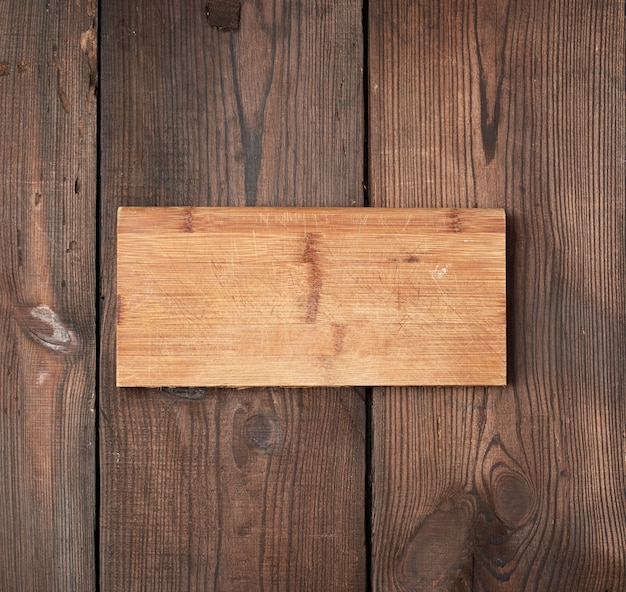 Very old empty wooden rectangular cutting board