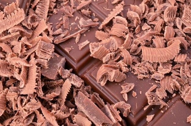 非常においしいチョコレートのクローズアップ