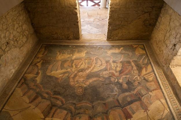 Vestibule of polyphemus at villa romana del casale, piazza armerina