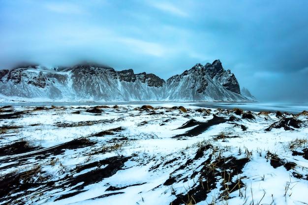 ストククスネス、アイスランド東部の風景でヴェストラホルンアイスランド