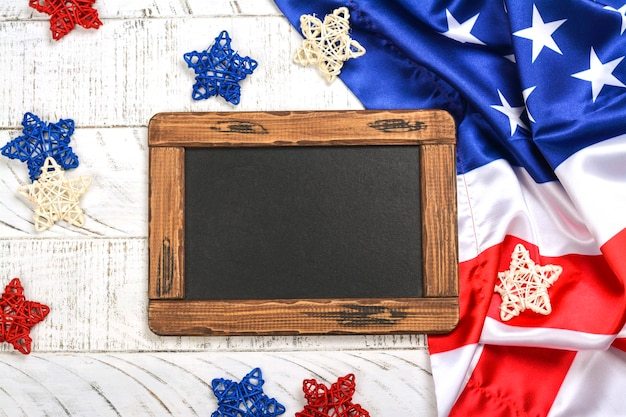 Veterans day background with a chalkboard