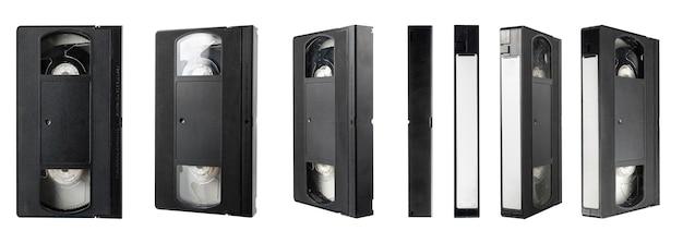 Видеокассета vhs, изолированные на белом фоне Premium Фотографии