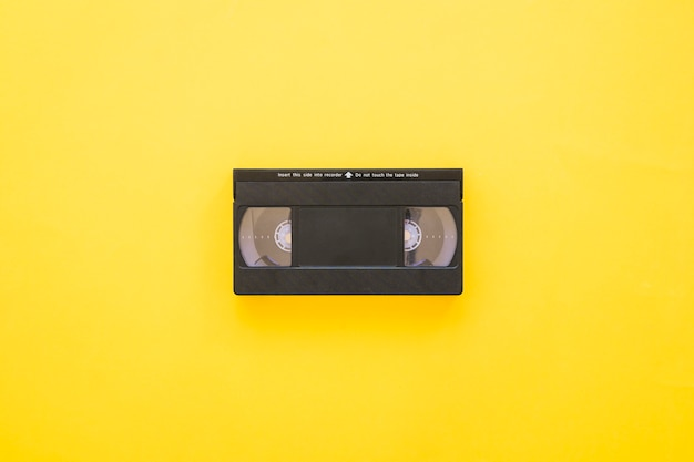Vhs on yellow background