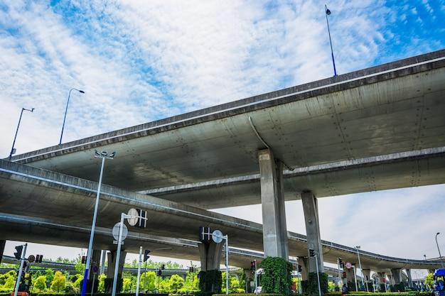 Sotto il viadotto della città