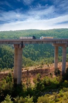 Viaducto de bunol in autovia a-3 road valencia