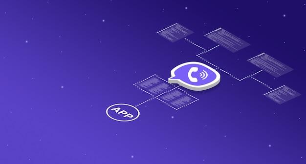 プログラムコード要素3dを持つシステム上のviberアプリケーションアイコン