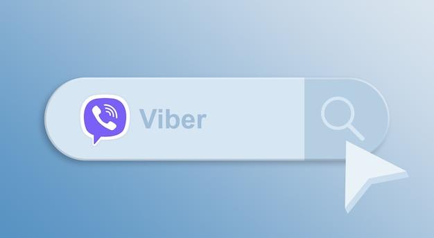 Viber на строке поиска с курсором мыши 3d