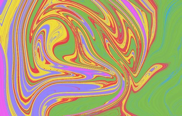活気に満ちた滑らかなグラデーションの柔らかい色波の幾何学的形状流体アートテクスチャ背景