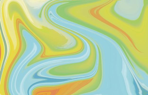活気に満ちた滑らかなグラデーションの柔らかい色波の幾何学的形状流動的なアートテクスチャ