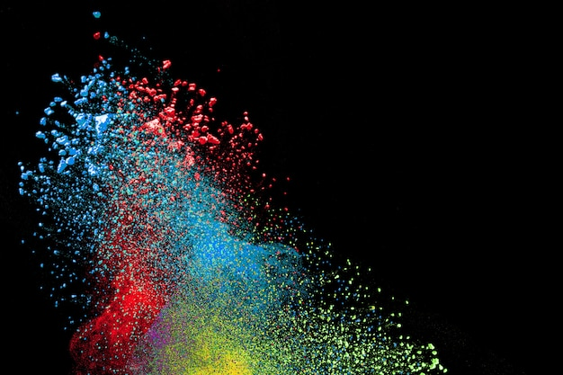 Vibrant color powder explosion.