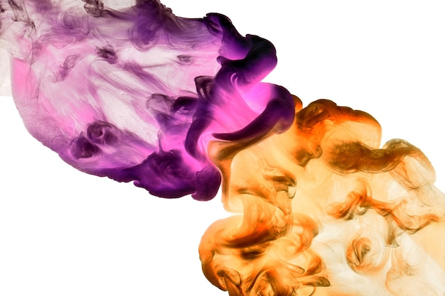 Vibrant colors, abstract bright smoke background