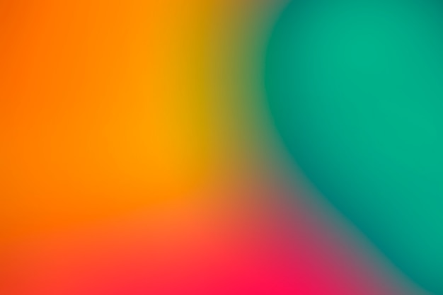 Vibrant colors in gradient