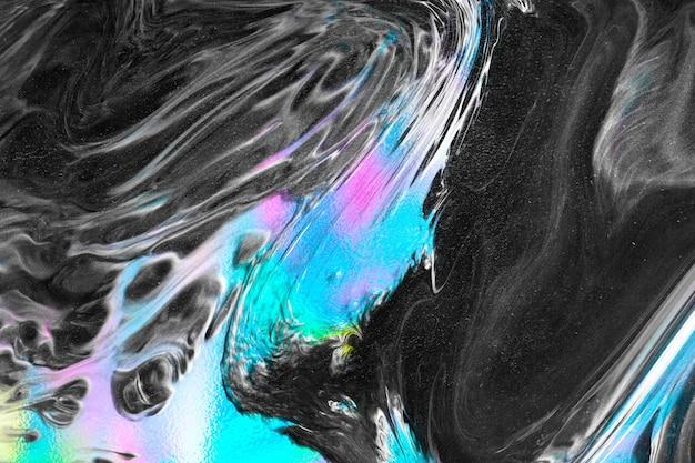 鮮やかなネオンブルーの液体
