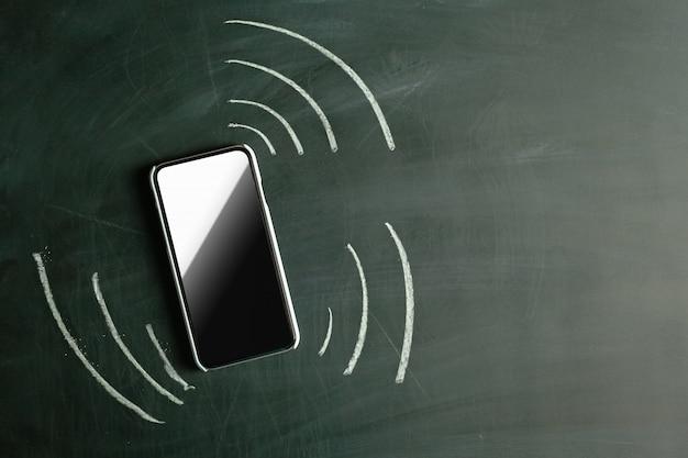Vibrating phone. drawn in chalk