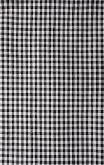 Vichy tablecloth texture. black and white. copy space.