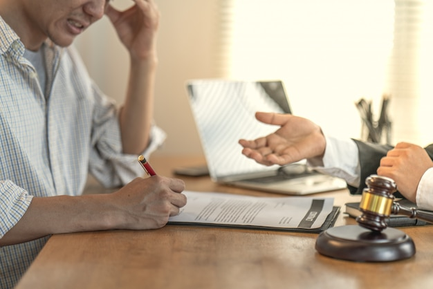 Victims claim with a lawyer about unfair contracts in purchasing homes